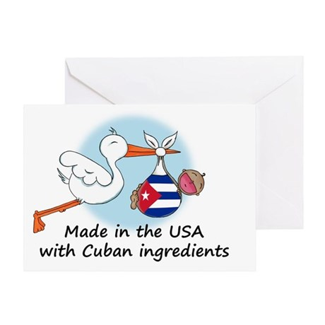 Stork Baby Cuba 2 Greeting Card