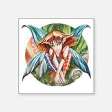 "Whimsey Faerie Square Sticker 3"" x 3"""