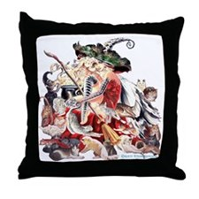 Ruth Thompsons Faerie Witch of Cats Throw Pillow
