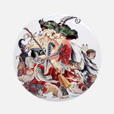 Ruth Thompsons Faerie Witch of Cats Round Ornament