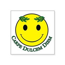 "Carpe Dulcem Diem Square Sticker 3"" x 3"""