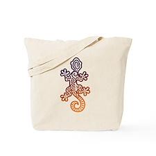 Ethnic Lizard Purple Orange Tote Bag