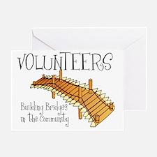 volunteers building bridges Greeting Card