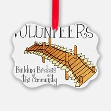 volunteers building bridges Ornament