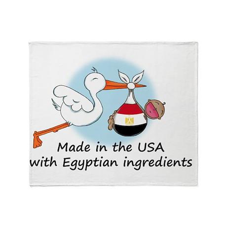 stork baby egypt 2 Throw Blanket