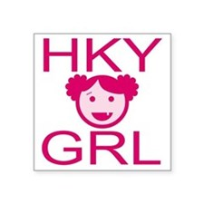 "HKY GRL Square Sticker 3"" x 3"""