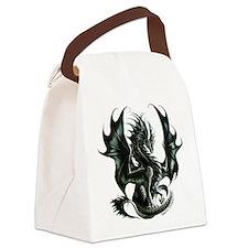 Ruth Thompsons Obsidian Dragon Canvas Lunch Bag
