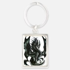 Ruth Thompsons Obsidian Dragon Portrait Keychain