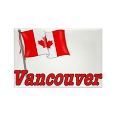 Canada Flag - Vancouver Text Rectangle Magnet