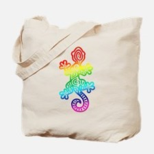 Ethnic Lizard Rainbow Tote Bag