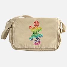 Ethnic Lizard Rainbow Messenger Bag