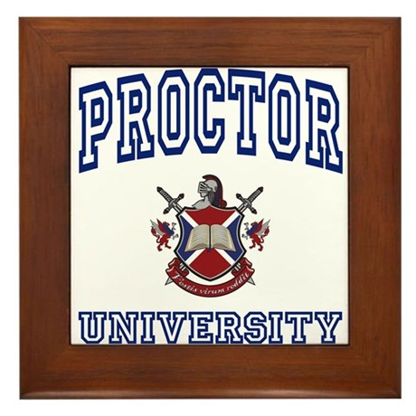 PROCTOR University Framed Tile