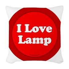 btn-love-lamp Woven Throw Pillow