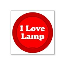 "btn-love-lamp Square Sticker 3"" x 3"""