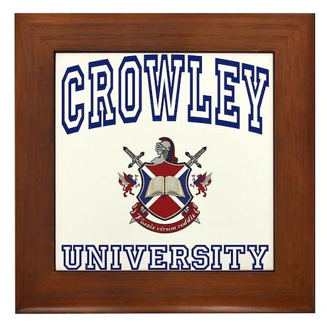CROWLEY University Framed Tile