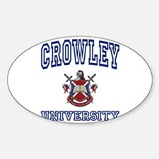 CROWLEY University Oval Decal