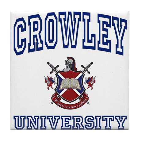 CROWLEY University Tile Coaster