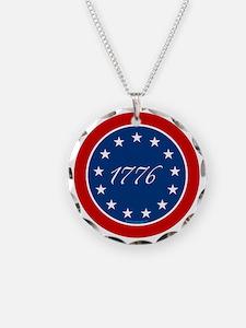 btn-patriot-1776-13stars Necklace