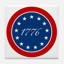 btn-patriot-1776-13stars Tile Coaster