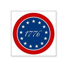 "btn-patriot-1776-13stars Square Sticker 3"" x 3"""