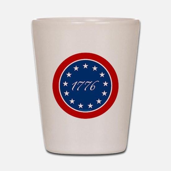 btn-patriot-1776-13stars Shot Glass