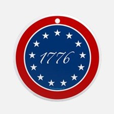 btn-patriot-1776-13stars Round Ornament