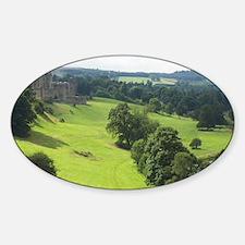 Alnwick Castle g card Sticker (Oval)