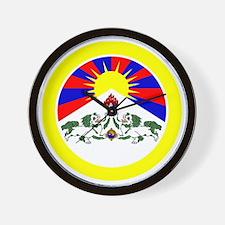btn-flag-tibet Wall Clock