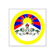 "btn-flag-tibet Square Sticker 3"" x 3"""