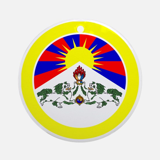 btn-flag-tibet Round Ornament
