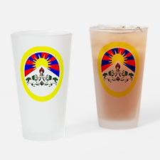 btn-flag-tibet Drinking Glass