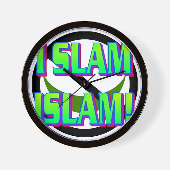 I SLAM ISLAM(white).gif Wall Clock