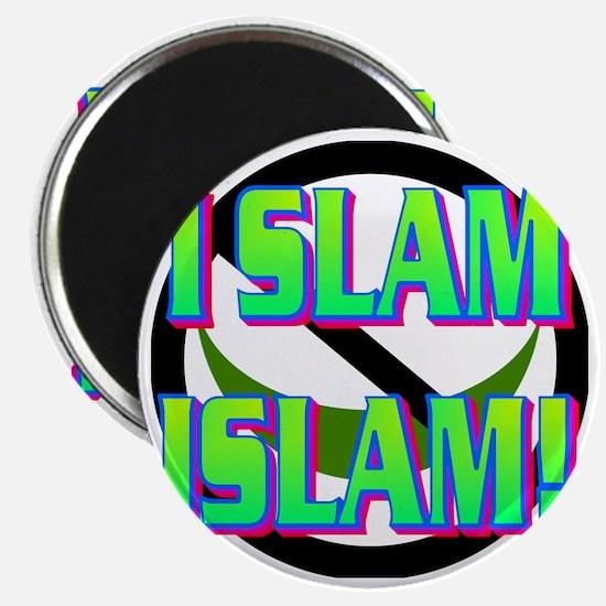 I SLAM ISLAM(white).gif Magnet