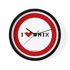 btn-heart-unix Wall Clock