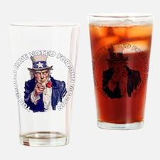 sam_shirt_dk_cp Drinking Glass