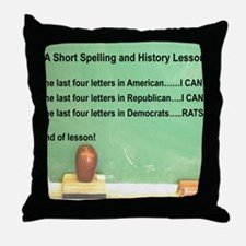 3-DEMOCRATS ARE RATS Throw Pillow
