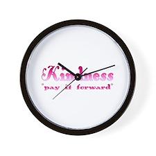 KINDNESS-pay it forward Wall Clock