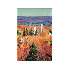 New England Autumn Rectangle Magnet (10 pack)
