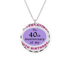 anniversay3 70th Necklace Circle Charm