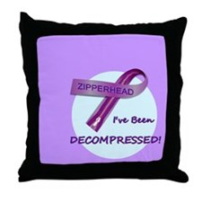 2-ButtonIveBeenDecompressed Throw Pillow