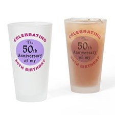 anniversay3 80th Drinking Glass