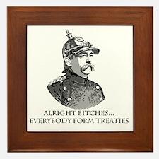 Bismarck_Treaties Framed Tile