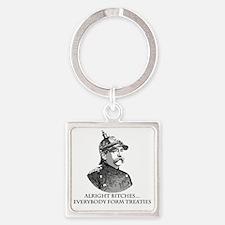 Bismarck_Treaties Square Keychain
