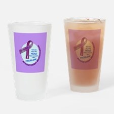 ButtonChiariAwareness Drinking Glass