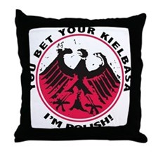2-PolishYouBetWht Throw Pillow