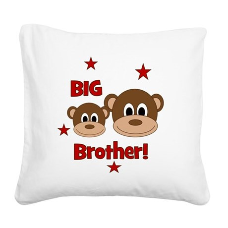 Monkey_BigBrother Square Canvas Pillow