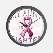 My Aunt is a Fighter Pink Wall Clock