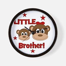 Monkey_LittleBrother_girl Wall Clock