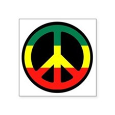 "Rasta_Peace.gif Square Sticker 3"" x 3"""