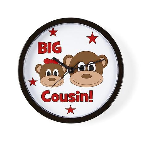 Monkey_BigCousin_girl Wall Clock